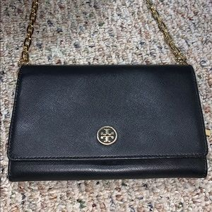 Tory Burch wallet on a chain